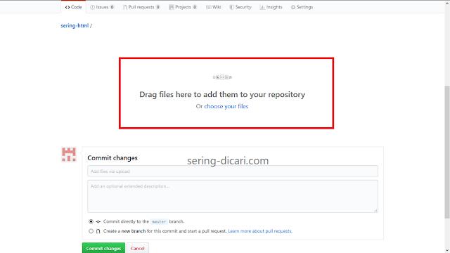 Cara Upload File JS ke GitHub Step 3 - Sering Dicari