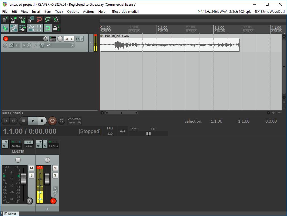 برنامج إنتاج صوت رقمي متقدم وكامل للتسجيل الصوتي متعدد المسارات Cockos REAPER 5.982