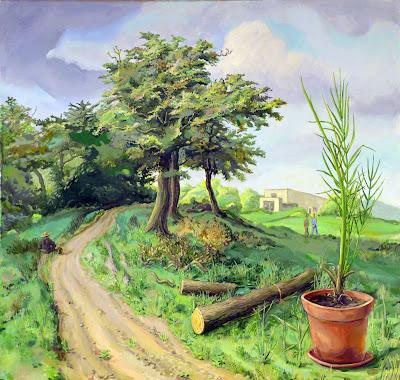 Holger Bunk –»Alte Bäume« (80-15)