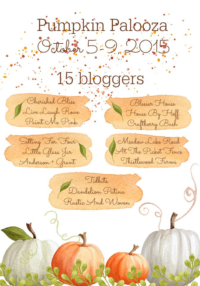 Pumpkin Palooza October 5-9, 2015