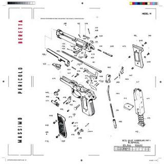 """Copertina di """"Beretta"""", il nuovo singolo di Massimo Pericolo."""