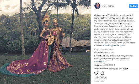 John Legend enjoy a wonderful holiday in Bali