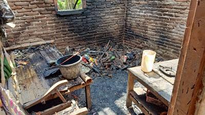 Rumah Warga Desa Luwengkidul Alami Kebakaran