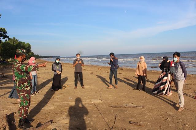 Pesan Babinsa Tanjung: Libur panjang, Boleh Berwisata Ke Pantai Tapi Harus 3M dan 1 K