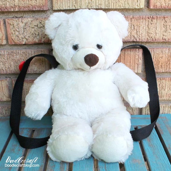 35 Awesome Back To School Crafts Round Up! Turn a teddy bear into a back pack