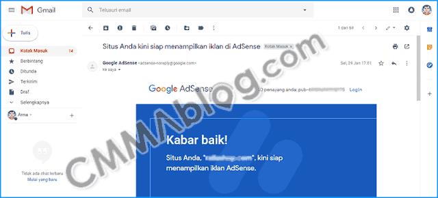 contoh email review site google adsense berhasil