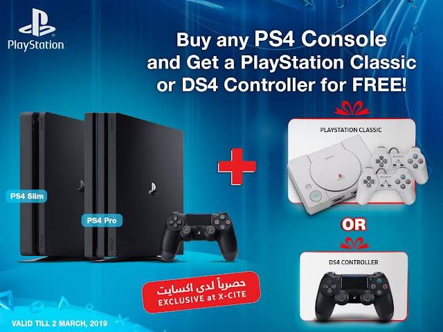في الكويت جهاز PlayStation Classic يمنح بالمجان مقابل شراء نسخة من جهاز PS4 ، إليكم تفاصيل العرض