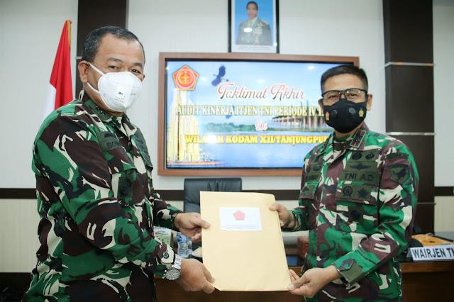 Taklimat Akhir Audit Kinerja Itjen TNI, Pangdam XII/Tpr: Hasil Wasrik Tolok Ukur Kinerja Dansat