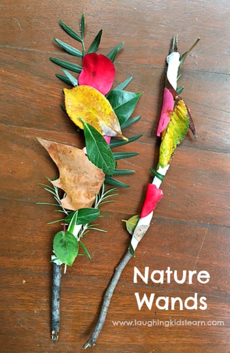 outdoor activities for kids - nature wands