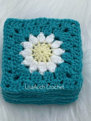 How to crochet a granny flower square