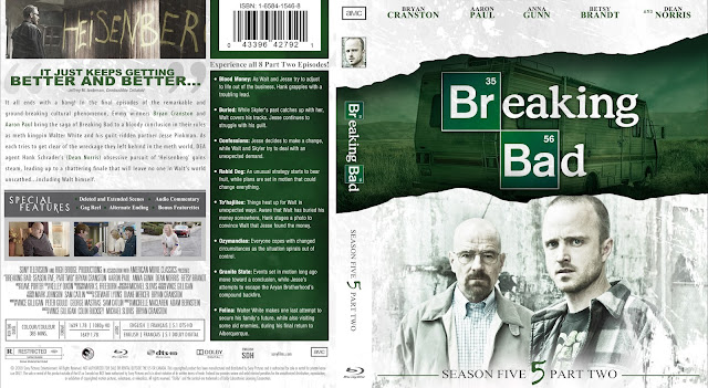 Breaking Bad Season 5 Part 2 Bluray Cover