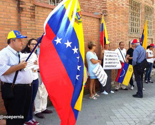 Venezolanos en Madrid se activan con jornada del #1S (+Video)