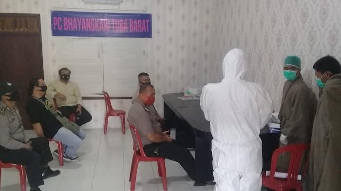 Polres Tubaba Melaksanakan Kegiatan Rapid test Massal