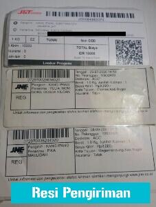 bukti resi,resi pengiriman paket