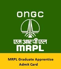 MRPL Graduate Apprentice Admit Card