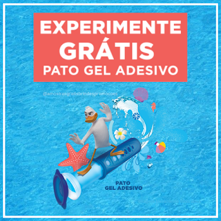 Experimente Grátis Brinde Grátis Gel Adesivo Pato