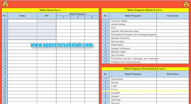 Menu Dewan Guru (Daftar Nama Guru) - Mata Pelajaran Wajib, Peminatan dan Guru.png