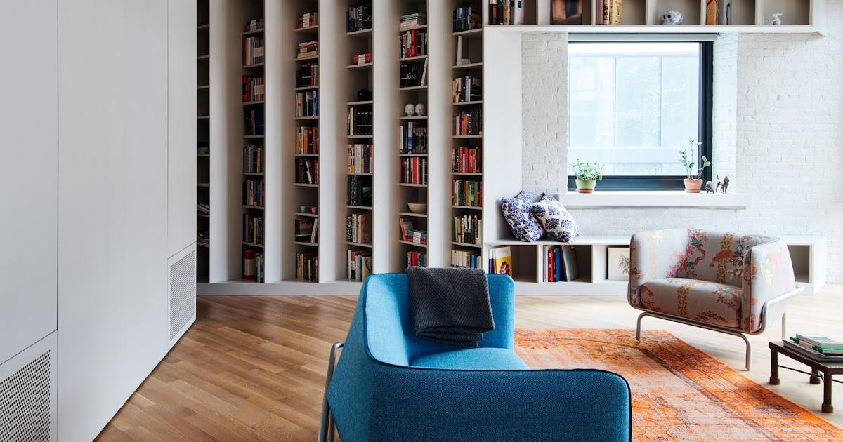Guardar milhares de livros em estantes de ângulos