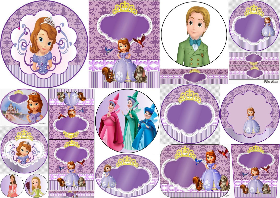 Sweet Sofia The First Free Printable Invitations And Candy Bar