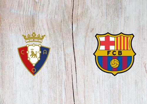 Osasuna vs Barcelona -Highlights 31 August 2019