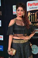 Ritika Singh in a Ethnic Deep Neck Dark Green Choli Ghagra at IIFA Utsavam Awards March 2017 ~ 020.JPG