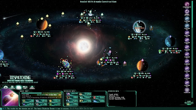 Screenshot of grand strategy layer in The Last Federation