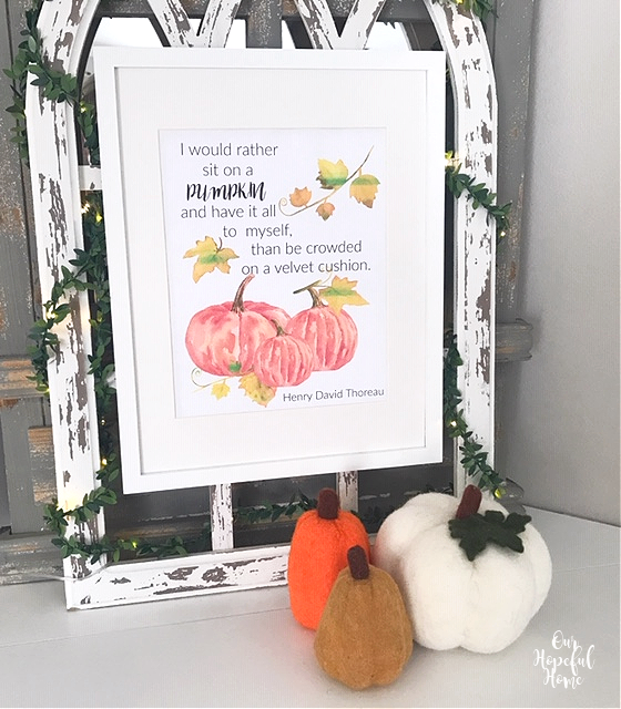 Henry David Thoreau free fall printable pumpkins