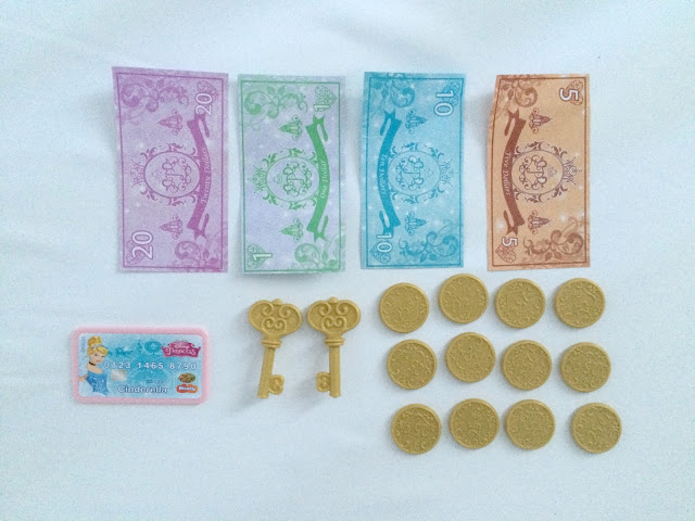 Contents of Disney Royal Boutique Cash Register