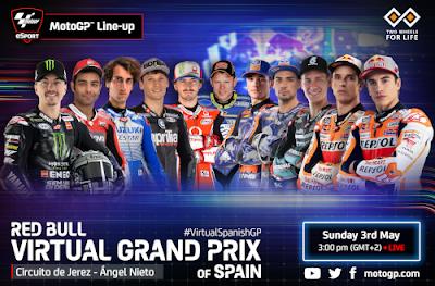 Resultado Carrera Virtual de MotoGP España Jerez 3 mayo 2020