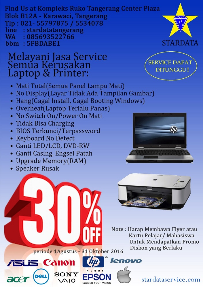 Promo Stardata Service Laptop dan Printer 2