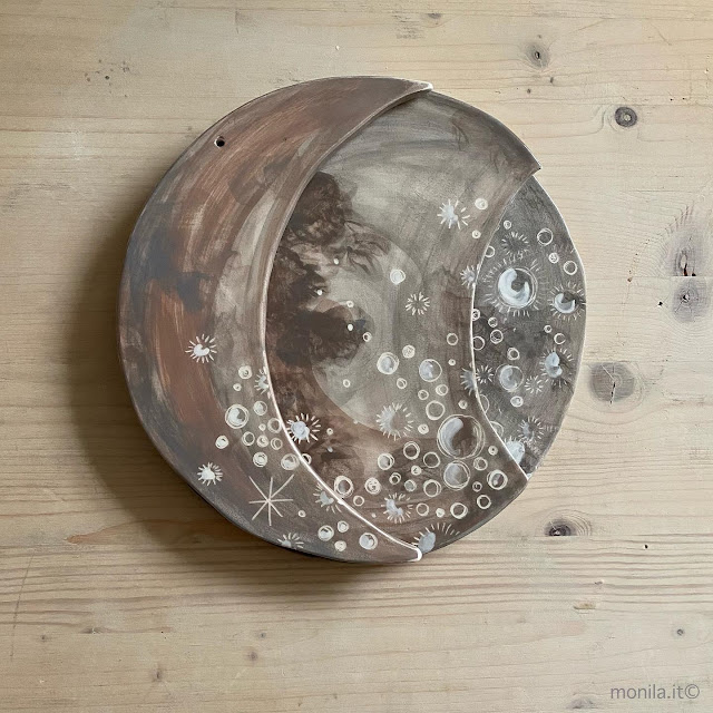 Moon,ceramica,monilahandmade