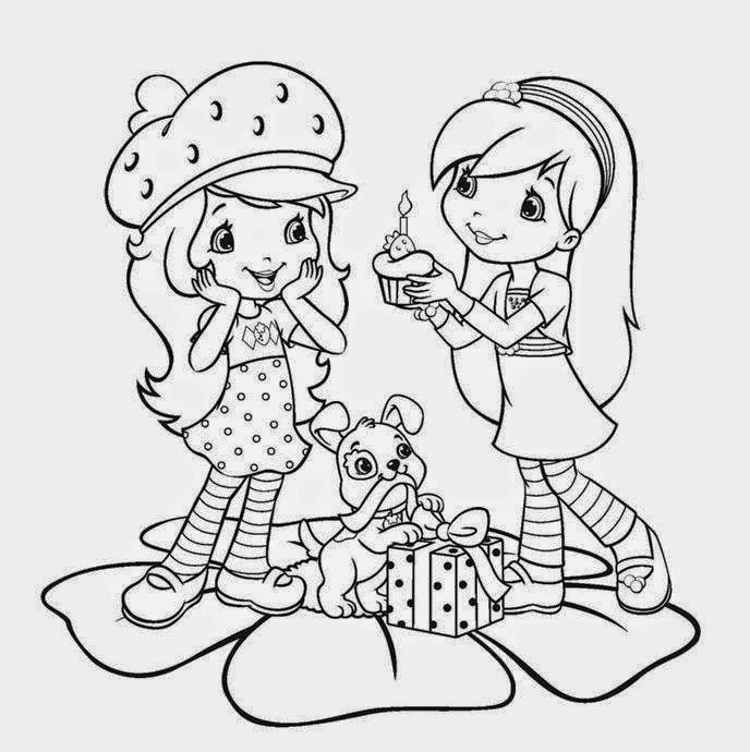 Desenhos Para Colorir De Melhores Amigas