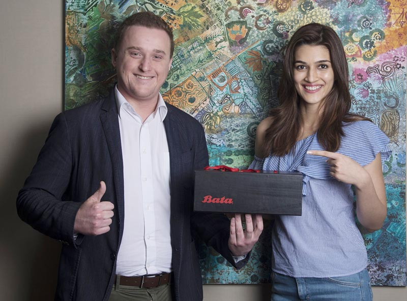 Thomas Archer Bata with Bata's New Brand Ambassador and Actress Kriti Sanon