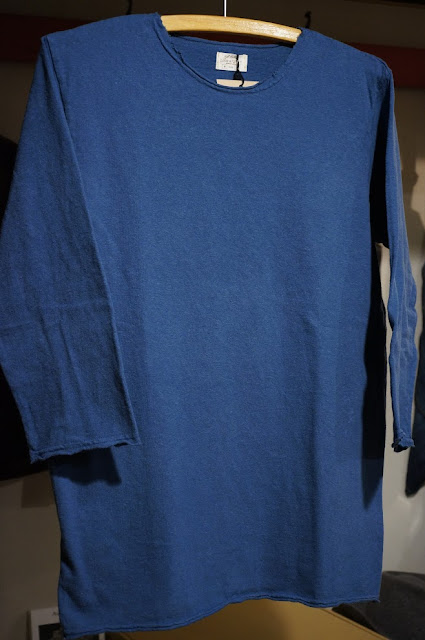LOOP&WEFT LRC1033 リバイバル杢天竺七分袖カットオフTシャツ