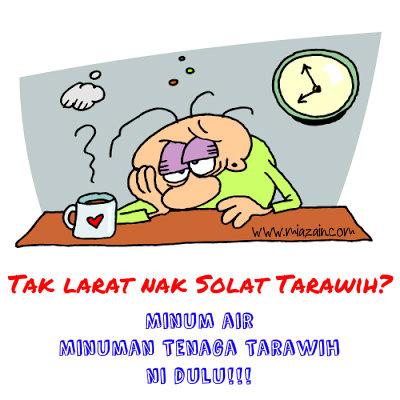 bertenaga ketika bertarawih