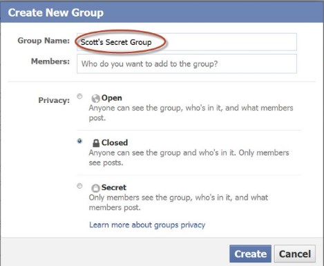 how to create a group on facebook for business