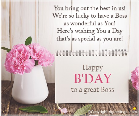 Happy Birthday to Boss Message