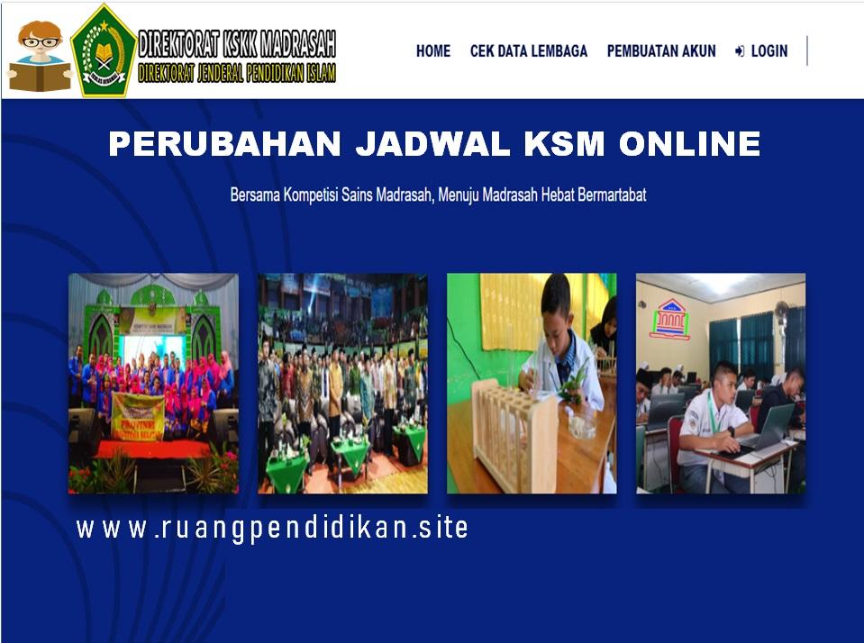 Jadwal Pelaksanaan KSM Online Tahun 2020