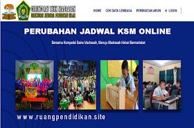 Perubahan Jadwal Pelaksanaan KSM Online Tahun 2020