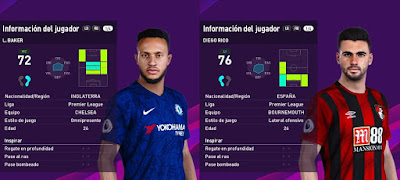 PES 2020 Faces Lewis Baker & Diego Rico by Francisco1507