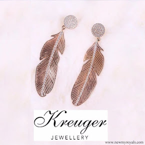 Crown Princess Victoria wore Kreuger Jewellery Summer Feather earrings