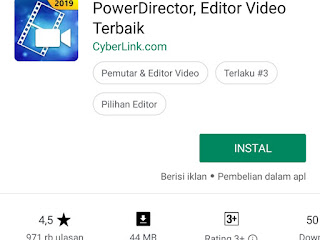aplikasi editing video android power director