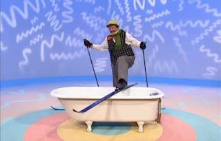 Mr Noodle comes with a ski attire. He can't take a bath like that. Sesame Street Elmo's World Bath Time The Noodle Family