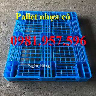 www.123nhanh.com: Pallet nhựa cũ, pallet nhựa nâng hàng, pallet nhựa