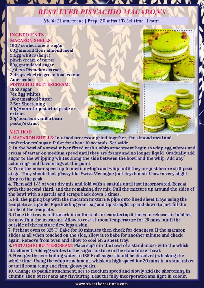 BEST EVER PISTACHIO MACARONS RECIPE