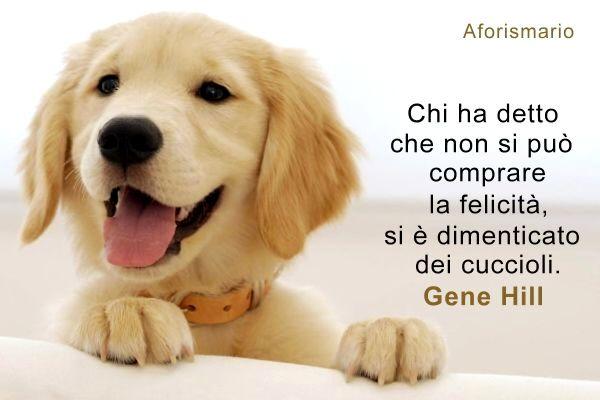 Famoso Aforismario®: Cuccioli - Frasi e citazioni sui Cagnolini AB02