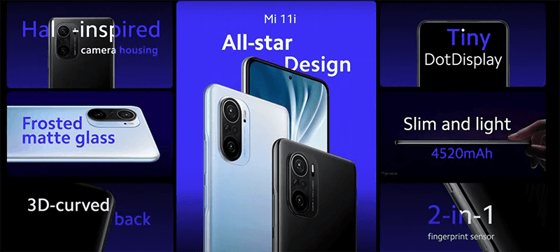 Xiaomi Mi 11i design