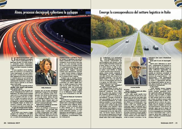 FEBBRAIO 2019 PAG. 21 - Emerge la consapevolezza del settore logistico in Italia