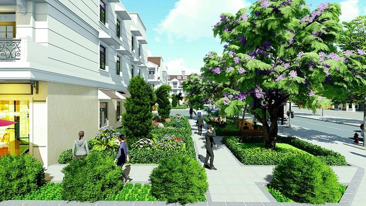 Không gian xanh tại dự án Garden House Vsip Bắc Ninh