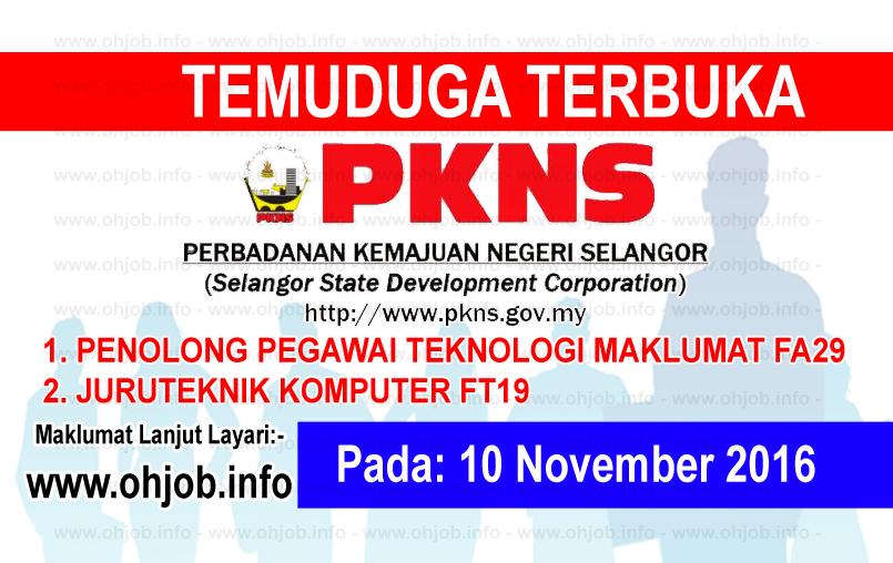 Jawatan Kerja Kosong Perbadanan Kemajuan Negeri Selangor (PKNS) logo www.ohjob.info november 2016